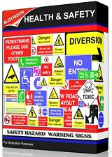 HEALTH AND SAFETY HAZARD & WARNING SIGNS + POSTERS DOWNLOAD ITEM