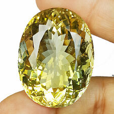 104.40 CT HUGE OVAL SHAPE 100% NATURAL UNHEATED CITRINE IN LIGHT YELLOW COLOR
