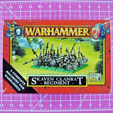 Warhammer Skaven Clanrat Regiment Nib - Oop Games Workshop 1999 Citadel Clanrats