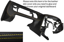 YELLOW STITCH DASH DASHBOARD LEATHER SKIN COVER FITS TOYOTA SUPRA MK4 1993-2002