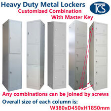 TCS Metal Lockers - Customise the Combination of Lockers - w/ Alloy Locks & Keys