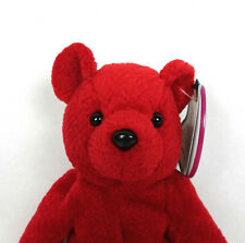 1999 Avon Birthstone February Full O'Beans Plush Cody the Bear Red New Kids 🔖