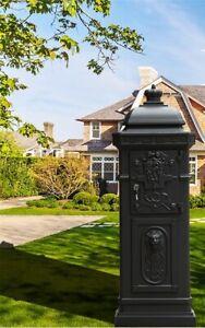 Brand new Antique  Vintage Letterbox Mailbox  cast aluminium alloy mail box