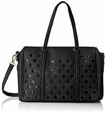 MG Collection Beatriz Cutout Bowling Tote Shoulder Bag, Black, One Size