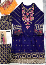 Maria b lawn design  Embroidered stitched  salwar kameez summer clearance £25