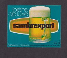 Ancienne étiquette Bière Alcool France  BN19506 Sambrexport