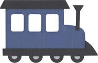 Train Engine Quickutz Thin Metal Die REV-0110 NEW!