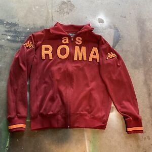 A.S. Roma Football KAPPA Zip Up Jacket Men's L Adult Rare Grail Vintage🔥🔥