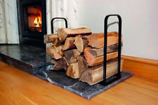 Metal Log Support Panier Indoor Fireside Firewood logs Boutique Storage Bin stan...
