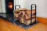 Metal Log Holder Basket Indoor Fireside Firewood Logs Store Storage Bin Stand