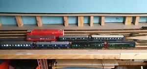 Lot 7 Wagons Jouef Ho Orient Express Ciwil....eclairage Led Personnages