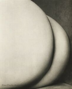 1950s Vintage Nude Female Butt By EDWARD WESTON Abstract Photo Gravure Art 11X14