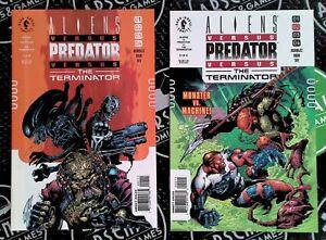 Aliens VS Predator VS Terminator #1 2 3 4 Full Set 2000 Dark Horse Comics NM