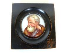 Handbemaltes Bild Miniatur im Rahmen um 1880 B-152