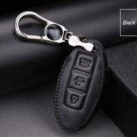 For Nissan Series 3 buttons car smart remote key case holder cover fob Black