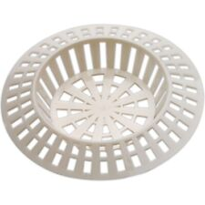 """Small 1.5"""" WHITE SINK STRAINER Hair Trap Shower Plug Hole Cover Waste Stopper"""