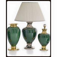Wunderschöne Tischlampe Lamp Grün Goldlegierung Handarbeit aus Italien