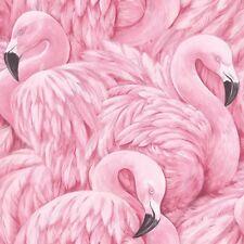 Rasch Modern Pink Flamingo Bird Feather Feature Wallpaper 277890