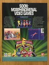 Mighty Morphin Power Rangers SNES Sega Genesis 1994 Print Ad/Poster Official Art