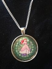 Kingdom Hearts Themed Disney Stained Glass Necklace Keyring Ariel Little Mermaid
