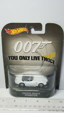 HOT WHEELS OO7 JAMES BOND YOU ONLY LIVE TWICE TOYOTA 2000GT ROADSTER WHITE 8