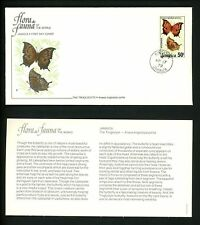 Jamaica, FDC #435-438 SET OF 4 insects butterfly bugs 1978- Perfect!!!