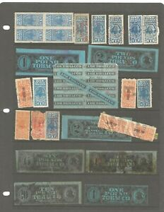 U S Stamps revenues taxpaids manufacture tobacco tax stamps lot of 70 items used