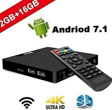 W95 Smart Android 7.1 4K TV Box Quad Core 2GB+16GB 3D HD WiFi HDMI Media Player
