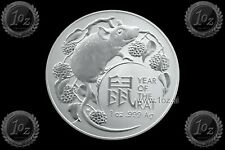 AUSTRALIA (RAM) 1 DOLLAR 2020 ( LUNAR - Year of the RAT ) 1oz SILVER Coin * BU
