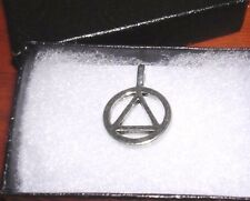 Alcoholics Anonymous AA jewelry charm silver pendant new (NO BOX INCLUDED)