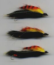 Trout Flies: New Snake Flies.The Black Tiger: Tied in the UK x 3 size 8