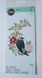 Sizzix Thinlits Die - Songbird - 661749 - Bird with flowers and foliage - 1 die
