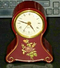 "Vintage STAIGER/Thorens Germany Floral Wind Up Musical Alarm Clock-""Harry Lime"""