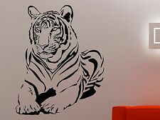 Tiger Wall Decal Wildcat Vinyl Sticker Wildlife Art Room Bedroom Animal Decor 1e