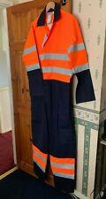 """Farlane Alsico Hi-Vis orange/navy flame retardant Coverall 124cm  Fit (48""""T)"""
