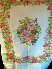 VINTAGE FLORAL STANDARD PILLOWCASE NOS FLOWERS ALONG EDGES PRETTY