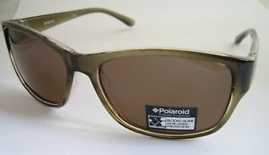 POLAROID SUNGLASSES CRYSTAL OLIVE POLARISED DRIVING P8212 BNWT GENUINE