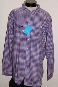 NEW NWT COLUMBIA Mens 2XLT 2XL-TALL Flannel Button-up shirt