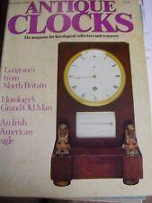 ANTIQUE CLOCKS MAG DECEMBER 1989 IRISH AMERICAN EAGLE JOSEPH CHEETHAM TURRET