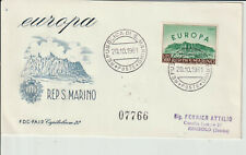 SAN MARINO - 1961 EUROPA - FIRST DAY COVER