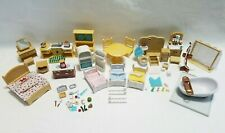 Calico Critters Kitchen Living Room Bathroom Bedroom Furniture Accessories Lot