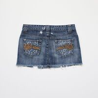 Miss Selfridge Womens Size 8 Blue Denim Mini Skirt