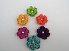 Handmade Crochet Flowers Roses Crafts Embellishment Applique Card Making