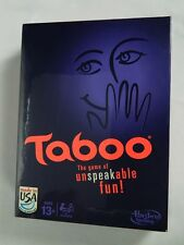 Taboo by HASBRO  Board Game of Unspeakable Fun New Sealed Box 4 players 13+