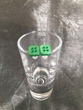 Handmade Green Square Button Stud Earrings