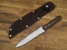 custom Trade knife razor sharp Carbon Steel JD walnut rendezvous Mountain man