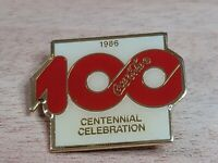 Vintage Coca-Cola 100 Centennial Celebration Lapel Coke Anniversary 1986 Pin