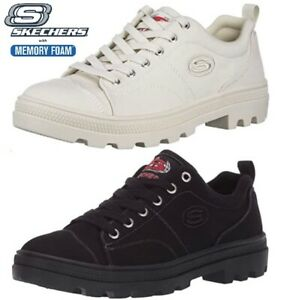 WOMENS SKECHERS ROADIES SHOES SNEAKERS CASUAL CANVAS MEMORY FOAM TRAINERS SIZE