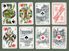 old playing cards deck + box. unusual courts  & Pictorial Aces  nice cards #033