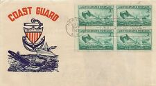 LETTRE LETTER PREMIER JOUR FIRST DAY COAST GUARD NEW YORK 1945